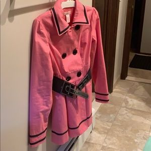 Like new pink trench